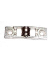 Glissière en acier zingué et polyamide pour porte coulissante AC.1001