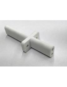 Soporte de porcelana doble largo 84mm con sujeción lateral interior 3,5mm Salamandra ES