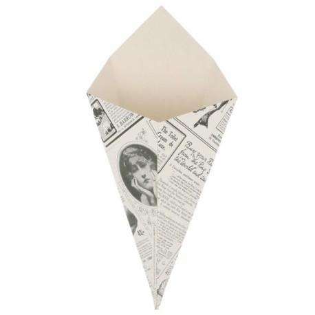 Folding greaseproof cardboard in newspaper design TIMES (Pack 200 pcs)