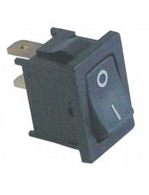 pulsador basculante medida de montaje 19x13mm negro 1NO 250V 6A 0-I HF-606 TW