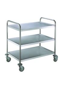 Service cart 3 shelves St Steel