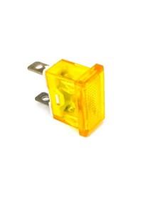 lámpara de señalización medida de montaje 24x11mm 230V amarillo empalme conector Faston 6,3mm TW