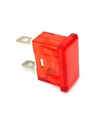 indicator light mounting measurements 24x11mm 230V red connection male faston 6.3mm