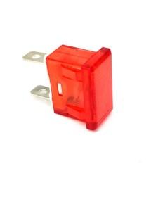 lámpara de señalización medida de montaje 24x11mm 230V Rojo empalme conector Faston 6,3mm TW