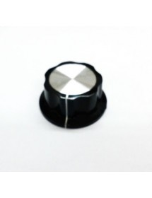 Mando Plástico Eje 6x4,6mm Diámetro ø 45mm