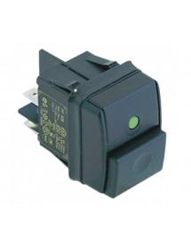 interruptor pulsante medida de montaje 30x22mm verde 2NO 250V 12A empalme conector Faston 6,3mm 301082