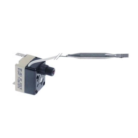 termostato de seguridad temp. desconexión 230°C 1 polos 1NO 16A sonda ø 6mm sonda L 58mm 376000 6234.00001.41 TECASA SP-051AT