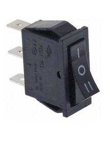 rocker switch mounting measurements 30x11mm black 1CO 250V 16A I O II connection male faston 6.3mm 34557 56254.00005.05