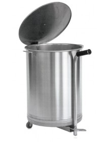 Stainless steel cube with wheels 50 liters