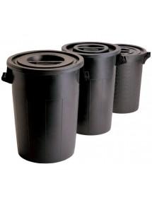 Cubo de basura de alta resistencia con tapa
