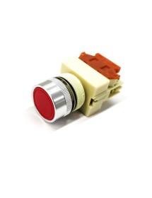 Pulsador de Paro 22mm Rojo Cerrado HLP-20 ONPOW Y090 Peladora