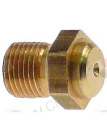 gas injector thread M8x0.75 WS 10 bore ø 0,7mm Turhan Ozti Bertos