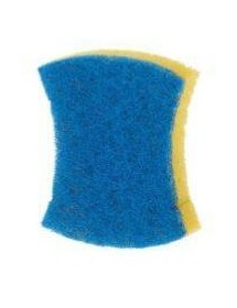 Blue fiber scourer with sponge (Lot 3 pcs)
