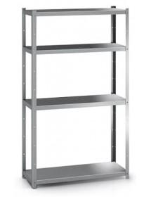 Standing shelf of 4 shelf bottom 400 mm