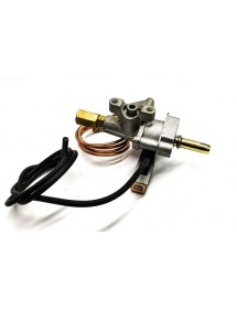 Gas tap GBR kitchen without 65mbr thermocouple with piezoelectric ignition and pilot tube