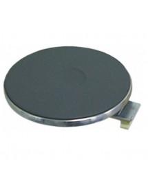 Placa de cocción ø 220mm 2600W 230V empalme 4 bornes de rosca con borde de 8 mm