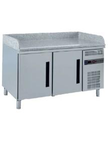 Mesa refrigerada de GN para preparación de pizza