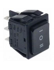 Interruptor basculante medida de montaje 30x22mm negro 2NO/2NO 250V 16A I O II 301188 Ozti 6232.00019.07