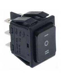 rocker switch mounting measurements 30x22mm black 2NO/2NO 250V 16A I O II 301188 Ozti 6232.00019.07