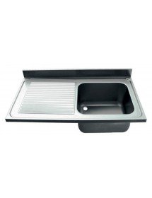 1200x600mm sink / drainer left tank 400x400x250mm stainless steel AISI-304 1mm