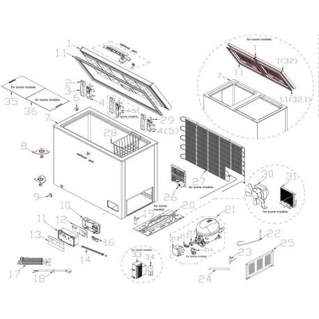 Refrigeration gasket profile Eutron LC-318