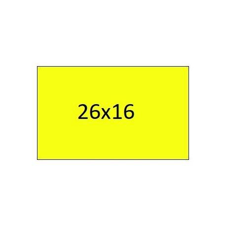 Rectangular rectangular label rolls 26X16 FLUOROUS YELLOW (40 rolls)