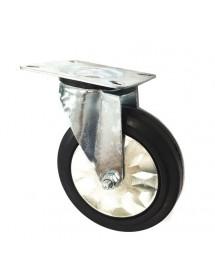 swivel castor with swivel brake ø 125mm plate fixing 85x100mm