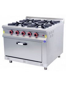 4 burner stove with MARCHEF oven