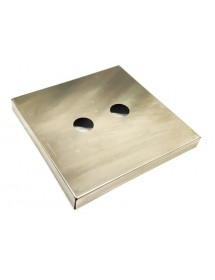 Supplement in stainless steel for interior of Vacuum Packing machine 220x220x25mm