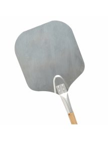 Pizza shovel with sharp edges in silver