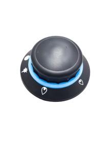 Thermostat knob T max 230 ° C 70-230 ° C ø 40mm shaft ø 6x4.6mm flat bottom black
