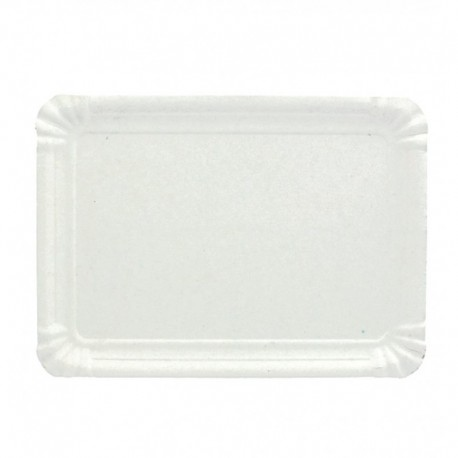 Rectangular cardboard tray 14x24cm (Pack 100 units)