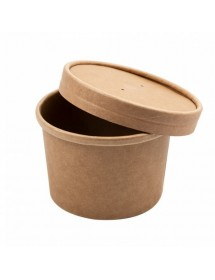 Soup container kraft with lid (25 pcs)