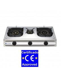 Cocina Sobremesa a gas 3B-03SRB 3 fuegos