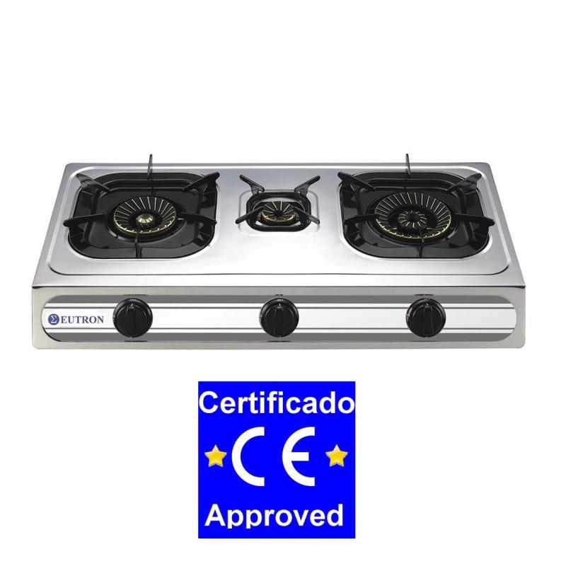 Cocina sobremesa a gas 3b 03srb 3 fuegos chef global maquinaria equipamiento de hosteleria - Cocina gas 3 fuegos ...