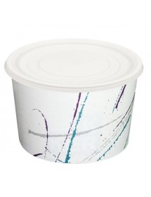 Cardboard tubs with PS lids...