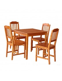 Pack table and 2 wooden chairs REF. 2490