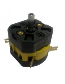 Rotary switch 2 0-1 sets of contacts 2 690V 20A shaft ø 5x5mm shaft L 17mm shaft square Fabar 13186