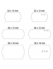 Pricing labels White Adhesive 2 22x12 26x12 26x16
