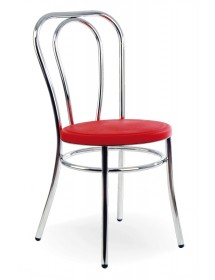 Silla de acero con asiento acolchado (2 unidades)