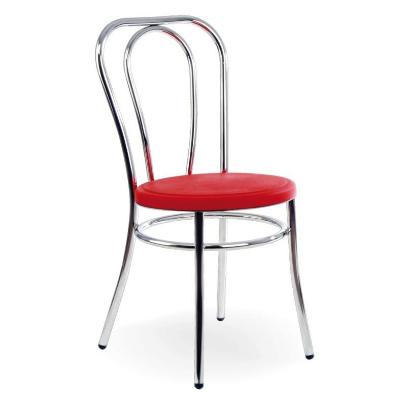 Silla de acero con asiento acolchado 2 unidades chef for Asientos para sillas