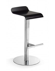 Stool or high chair steel or laminated wood seat