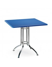 Mesa cuadrada de 70 cm de acero pintado