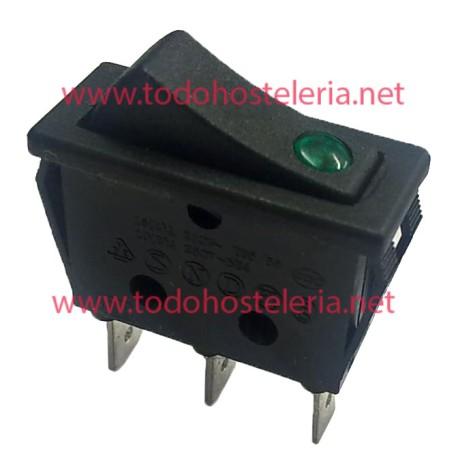 Interruptor basculante Luz Verde Grill
