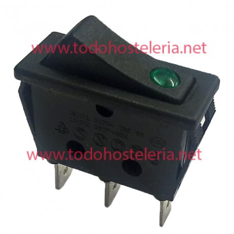 Rocker Switch with Green Light Grill