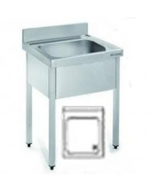 600x600mm Stainless Steel Sink.