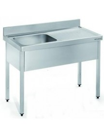 1000x600mm Stainless Steel Sink with drainer.
