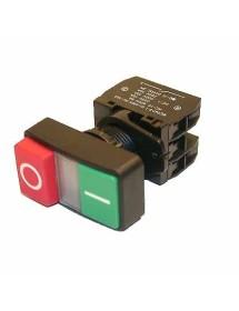 Interruptor Rojo/Verde Marcha/Paro con luz HY57 Kedu