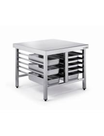 Mesa para hornos de acero inoxidable