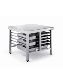 Stainless steel table for ovens
